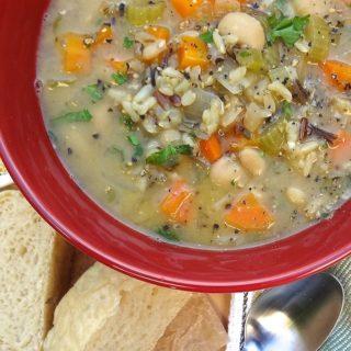 Quick One-Pot Veggie and Wild Rice Soup – vegan