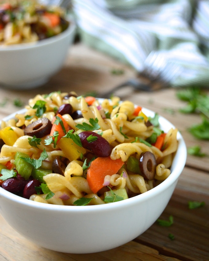 Italian pasta salad w balsamic vinaigrette where you get your protein recipe image forumfinder Gallery