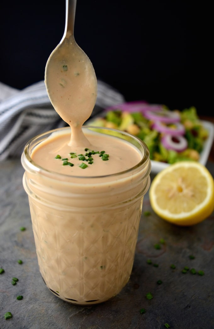 Creamy Vegan Bbq Ranch Dressing Gluten Free Oil Free Where You