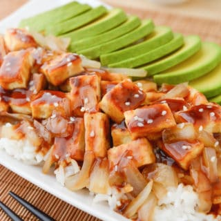 Teriyaki Tofu with Avocado