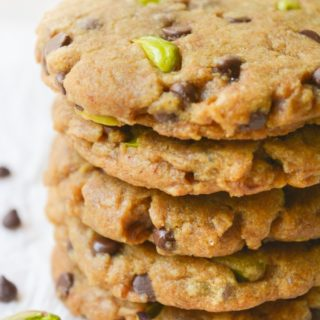 Pistachio Chocolate Chip Cookies [vegan]