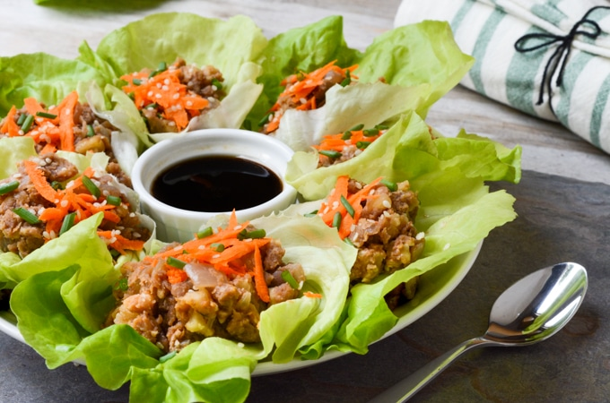 'Umami' Vegan Lettuce Wraps | Where You Get Your Protein - Vegan Recipes