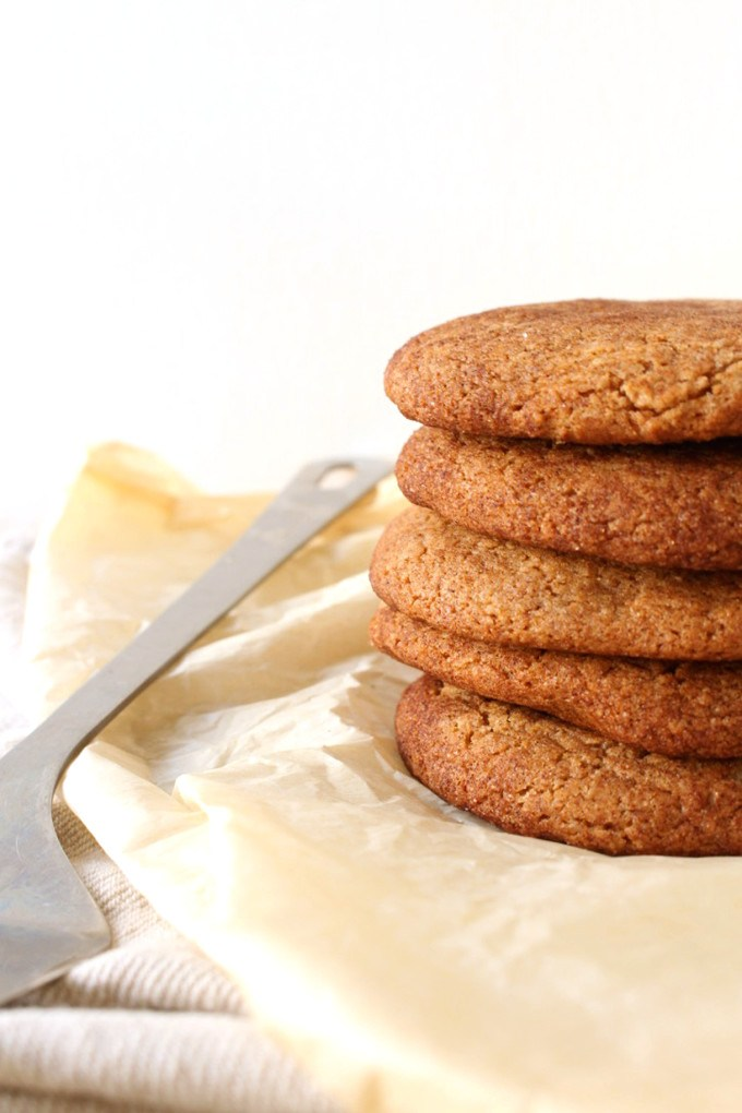 Vegan Holiday Cookie - Stack of soft and chewy apple butter cookies